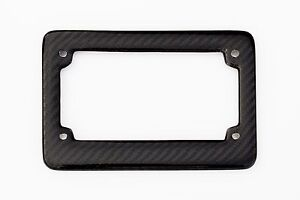 Real 2 Pcs 100 Carbon Fiber Motorcycle License Plate Frame Orignial 3k