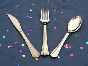 Reflections Silver Look Plastic Cutlery 600 Each Forks Knives Spoons