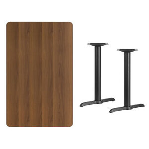 30 X 48 Walnut Laminate Table Top With Base Table Height Restaurant Table