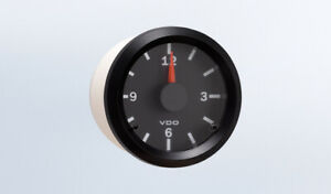 Vdo Gauge Clock Genuine Cockpit 370 155 2 1 16 52mm 12 24v Dual System