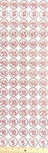 New 100 Pack assorted Price Point Clearance Retail Store Stickers Tags Labels