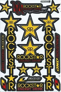 New Rockstar Energy Motocross Racing Graphic Stickers decals 1 Sheet St196