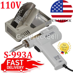 S 993a 110v 90w Electric Vacuum Desoldering Pump Solder Sucker Gun Us Plug