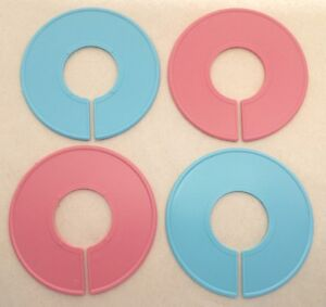 Plastic Pink Blue Round Clothing Rack Size Clothes Closet Divider 10 50 Pack