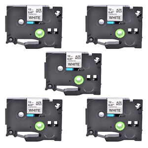 Compatible With Brother 5pk Black white Label Tape Tze 231 Tz 231 Pt1100 0 47