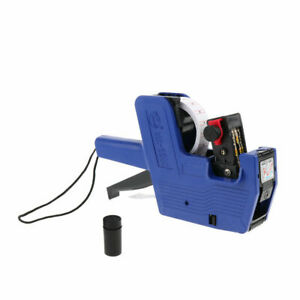 Mx 5500 8 Digits Price Pricing Tag Label Gun Labeller Plus Extra Ink blue Body