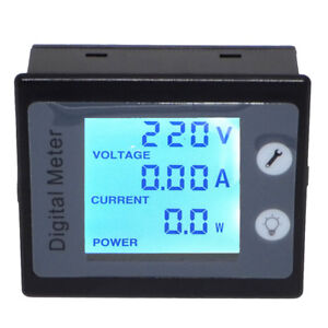 Ac Digital Multi function Meter Power Energy Voltage Current V A W Kwh Monitor