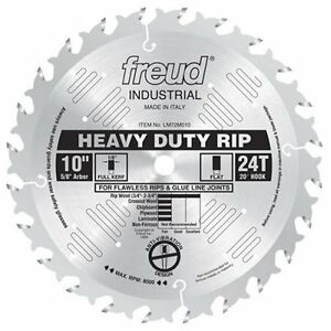 Freud Lm72m010 Industrial Heavy Duty Rip Saw Blade 10 inch By 24t Flat Top 5 8 i