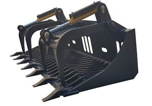New 72 Rock Grapple Bucket Skidsteer Attachment Quick Attach Free Shipping