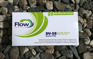 600 X Dental X ray Films Dv 58 Films Econo Pack Flow Dental 18204 Exp 2021 03