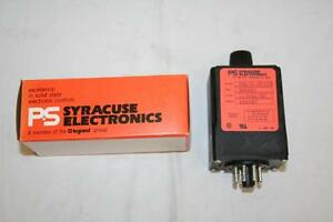 Ps Syracuse Time Delay On Make Relay Output 300 Sec 115vac dc Tnr d 00320 Nos