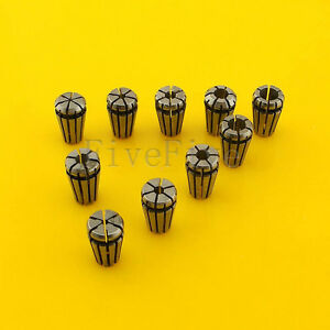 10pcs Er8 Spring Collet Chuck Tool Set Cnc 1 8 1 1 5 2 2 5 3 3 5 4 4 5 5mm New