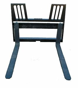 Skidsteer Pallet Forks Walk Thur Bobcat Universal Quick Attach Rated At 3700 Lbs