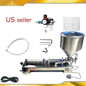 Pneumatic Dual use Paste Liquid Cream Filling Machine 50ml 500ml Chilli Sauce