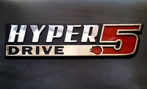Hyper Drive Star Wars Car Emblem Chrome Plastic Not A Decal Sticker