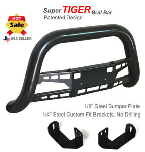 Bull Bar 1998 2004 Toyota Tacoma Push Bumper Guard In Black Stainless Steel