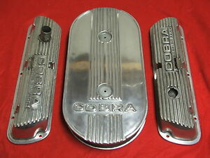 Real Deal1968 Shelby Gt 350 289 302 351 Cobra Valve Cover Oval Air Cleaner Set