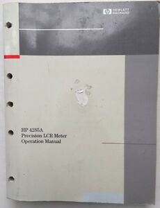 Agilent Hp 4285a Precision Lcr Meter Operation Manual P n 04285 90000