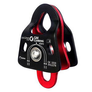 40kn Micro Double Pulley Ce Uiaa Certified For Arborist Climbing Hauling Systems