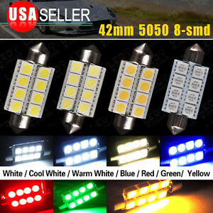 1 4 20 100pcs 1 72 Festoon 42mm 5050 8smd 578 Map dome Interior Led Light Bulbs