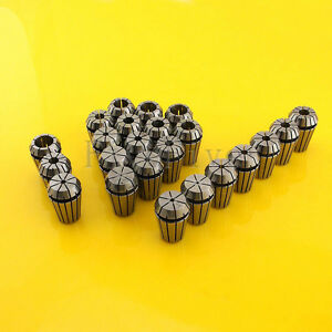 23pcs Er20 Spring Collet Chuck Tool Set Cnc 1mm 13mm 1 5mm 7 5mm 1 8 1 4 1 2