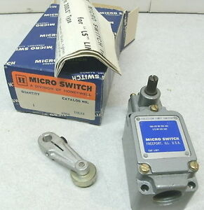 Honeywell Micro Switch 11ls1 Limit Side Actuator Spdt Arm Roller New In Box