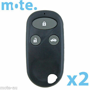 2 X Honda S2000 Crv Accord Legend 3 Button Key Remote Case Shell Blank