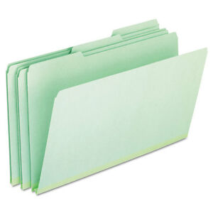 Pressboard Expanding File Folders 1 3 Cut Top Tab Legal Green 25 box