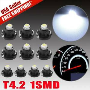 10pcs White T4 1smd Dash Led Light T4 2 For A c Climate Heater Control Bulb Lamp
