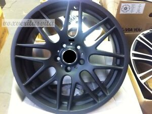 19 Wheels Rims Csl Style Matte Black M3 Fits Bmw E46 E90 E92 E93 F30 F32 F33