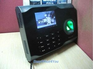 Wireless Biometric Fingerprint Time Attendance Time Clock Wifi tcp ip usb