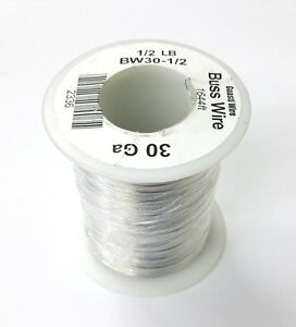 New 30 Gauge Tinned Copper Bus Wire 1 2 Pound Roll 1 644 Approx Lgth 30awg