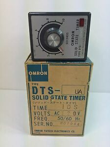 New Omron Solid State Timer Dts ua Dts ua ac120 Dtsua 10 Seconds 120 Vac