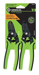 Greenlee Communications 22 10 Awg And 30 20 Awg Grip Wire Strippers Bundle New