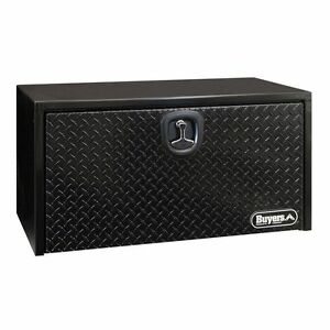 Buyers Black Steel 18 X 18 X 24 Underbody Box W diamond Tread Door 1702500