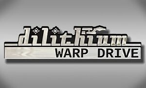 Dilithium Warp Drive Star Trek Car Emblem Chrome Plastic Not A Decal Sticker