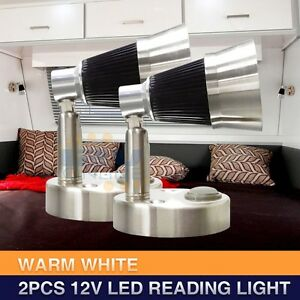 Rv Interior Led Bedside Reading Lights Trailer Truck Map Lamp Wall Mount Warm W