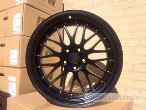 19 Wheels Rims Lemans Style Matte Black Fits Bmw E46 E90 E92 E93 F30 F32 F33