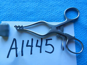 Aesculap Surgical 110mm Weitlaner Retractor 2x3 Sharp Prongs Bv070r New