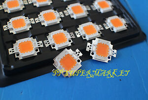 10pcs 10w 10 Watt Full Spectrum Led Chip 380nm 840nm Plant Grow Lights