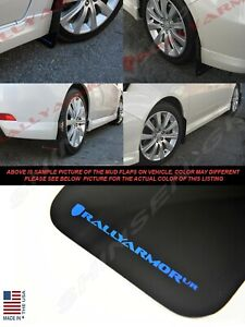 Rally Armor Ur Black Mud Flaps W Blue Logo For 2008 2011 Impreza And 08 10 Wrx