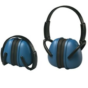 Blue Ear Muffs Hearing Protection Folding Adjustable Work hunting shooting