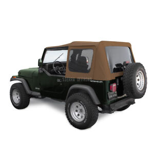 Jeep Soft Top For Wrangler Yj With Tinted Windows In Spice Sailcloth