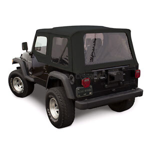 Jeep Wrangler Tj Soft Top 1997 02 Tinted Windows Upper Doors Black Sailcloth