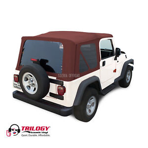 Jeep Wrangler Tj Soft Top 2003 2006 Tinted Windows Acoustic Vinyl Bordeaux