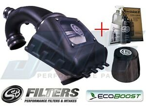 S B Cold Air Intake Kit W Pre Filter Cleaning Kit For 11 14 Ecoboost 3 5l