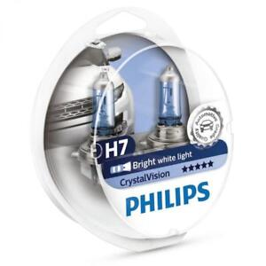 Philips H7 Crystal Vision 4300k Bulbs 12972cvsm With Parking Lights Genuine