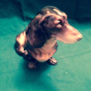 Nymphenburg Wonderful Large Dachshund Figurine Ca 1960