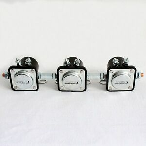 free Shipping 12v Accumax Solenoids 3 Set Connectors Lowrider Hydraulics Impala