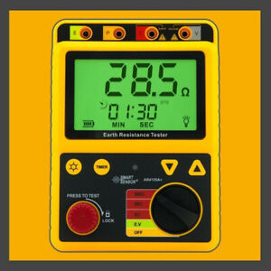 Digital Earth Ground Resistance Meter Tester Range 0 200 Ohm Ar4105a